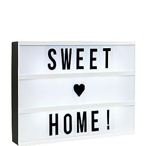 butlers blockbuster light box a4 leuchtkasten mit 85 flexiblen buchstaben und zeichen. Black Bedroom Furniture Sets. Home Design Ideas