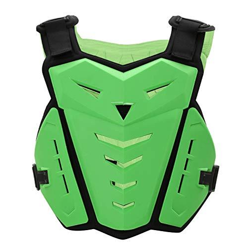 SunTime Motorrad Brustschutz, Brustschutz Racing Guard Weste mit Rückenschutz für Motocross Riding Skating Roller Skifahren (Grün)