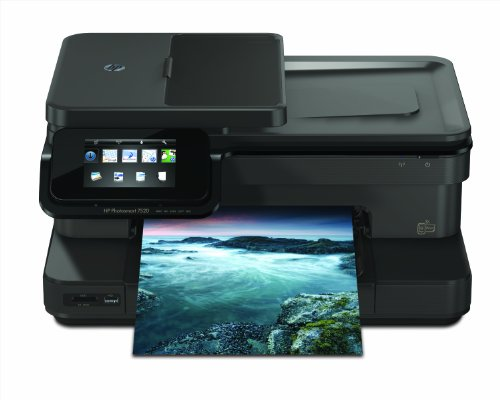 HP Photosmart 7520 e-All-in-One Tintenstrahl Multifunktionsdrucker (A4, Drucker, Scanner, Kopierer, Wlan, USB, 9600x2400) -