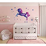 Adesivo murale fenicottero Unicorno carino Cameretta per bambini Decorazioni per la casa Adesivo animali Carta da parati Cameretta per bambini Modello da parete Modello N 60 * 90cm