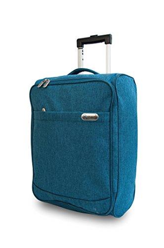 iN TRAVEL®, Handgepäck blau blaugrün Carry on Cabin Bag (Carry On Travel Bag)