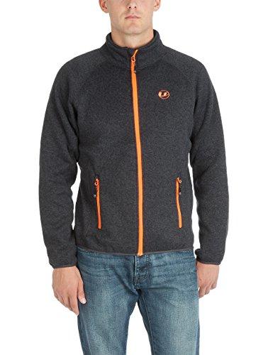 Ultrasport Herren Strickfleece Jacke Snug Ebony/Orange, S Orange Snowboard-jacke