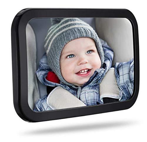 Großer 29cm x 19cm bruchsicherer Baby Rücksitzspiegel für das Auto