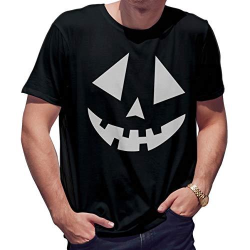 Lapi Boutique Pumpkins Face Helloween Camiseta de Hombre Negra...