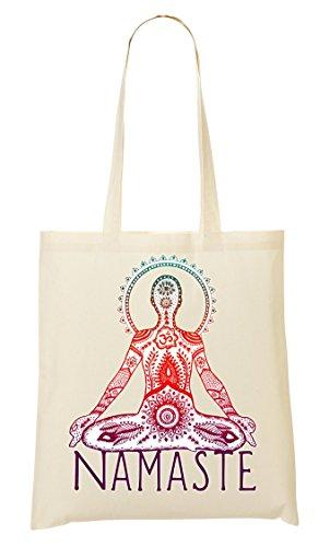 Namaste Yoga-tote (Namaste To Spiritual Collection Pray Do Yoga Live Longer Tragetasche Einkaufstasche)