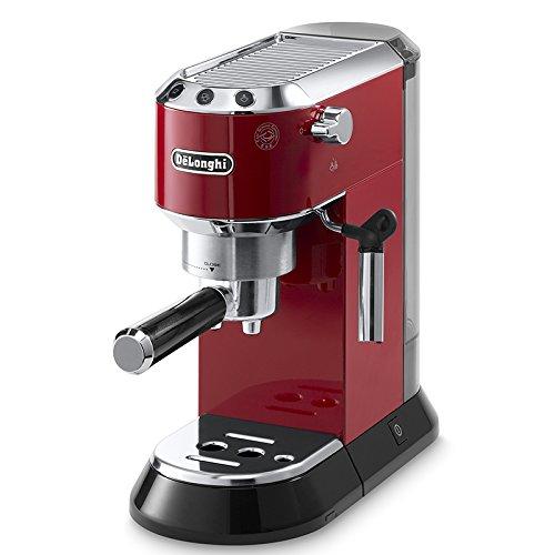 espresso padmaschine DeLonghi EC 680.R Dedica Espressomaschine (1350 Watt, 15 bar) rot