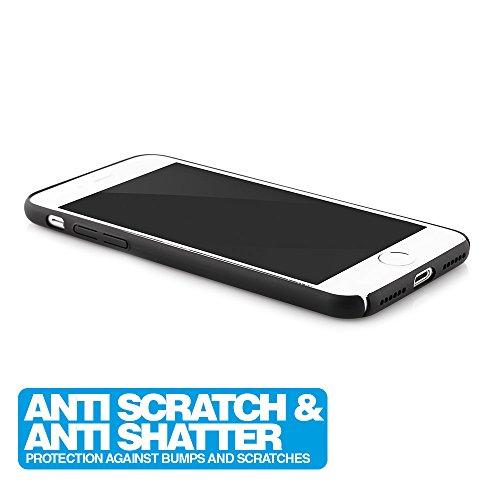 MC24 iPhone 6 / 6s Plus Ultra Slim Handyhülle in rot / Schutzhülle / Handy-Schale Case Smartphone Cover | Extrem Dünn & Leicht | Anti-Kratzer & Anti-Fingerabdrücke | 100% passgenaue Hülle für Apple iP schwarz