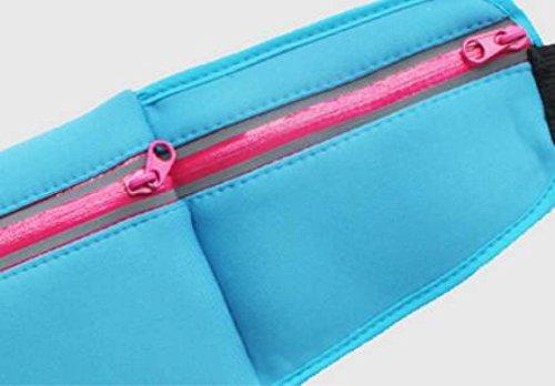 FZHLY Sommer Laufsport Taschen Multifunktions-Paket Anti-Diebstahl-Handy-Beutel WaterBlue