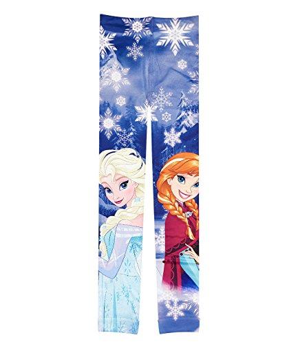 Disney frozen - il regno di ghiaccio ragazze leggings - blu - 128