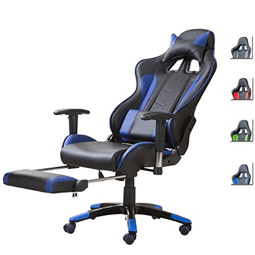 Delman Racing Bürostuhl Schreibtischstuhl ergonomische Design 02-1008...