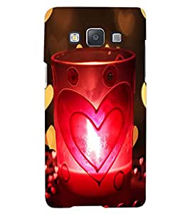 ColourCraft Love Candle Design Back Case Cover for SAMSUNG GALAXY A7