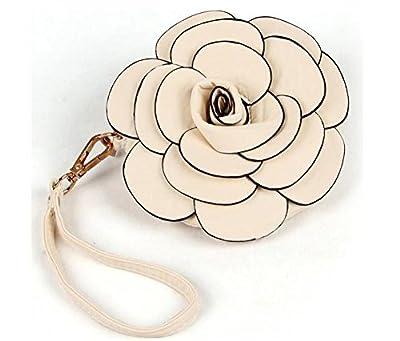 GXY- Roses stéréo Sac Fleur Sac à main féminin élégant et personnalisé Sac bandoulière / portefeuille porte-monnaie / Mignon Sac de téléphone portable en Cuir PU