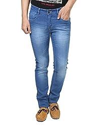 Trendy Trotters Cotton Stretchable Light Blue Denim Jeans