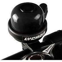 Licaón bicicleta Bell double-ring Loud sonido nítido y claro bicicleta Bell para moto cruiser para bicicleta triciclo montaña bicicleta de carretera mtb bmx bicicleta eléctrica (negro)