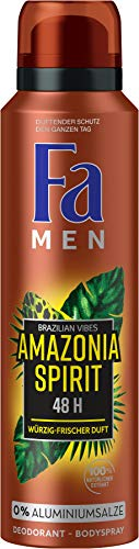 Fa Men Deospray Men Amazonia Spirit Brazilian Vibes, 1er Pack (1 x 150 ml)