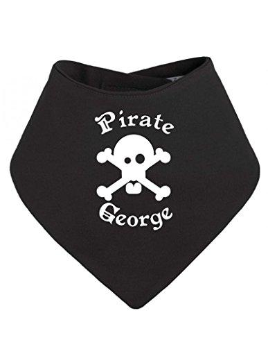 Personalised Pirate Name Skull And Crossbones Customise With Name Bandana Baby Bib