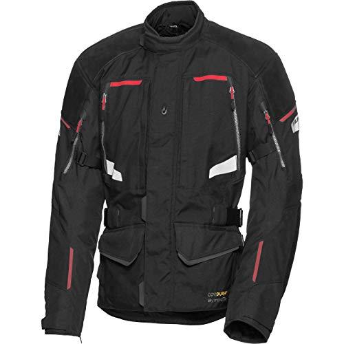 FLM Motorradschutzjacke, Motorradjacke Touren Leder-/Textiljacke 4.0 schwarz L, Herren, Tourer, Ganzjährig