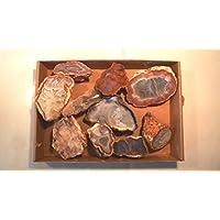 Preisvergleich für Achat, Achatdrusen, SET! 10 Stück, 930g, oft mit glänzenden Kristallanteilen, POLIERT und glänzend.
