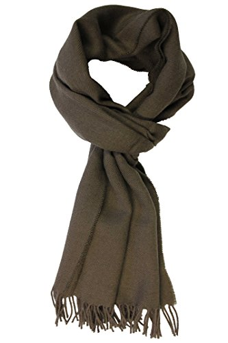 rotfuchs-mens-plain-scarf-brown-light-brown-one-size