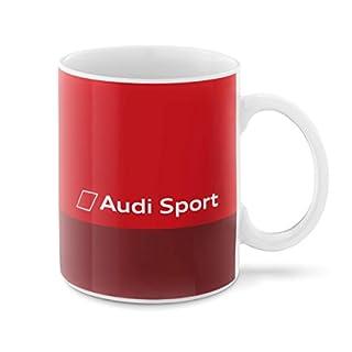 Audi 3291800500 Sport Tasse Porzellan, Rot