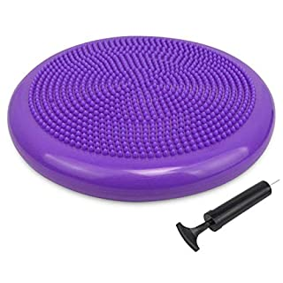 Trideer Extra Thick 33/34cm Balance Cushion Air Stability Wobble Board Rehab Cushion for ADHD Fitness Exercise Workout Posture Trainer with Free Pump to Adults or Children