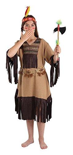 Imagen de disfraz de india para niña nube roja  único, 3 a 5 años
