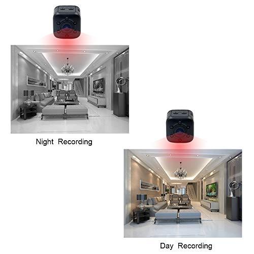 1080P Mini Cam Surveillance Kamera LXMIMI Portable HD Nanny Web Cam mit Nachtsicht und Bewegungserkennung für Home / Office Indoor / Outdoor Security Kamera - 3