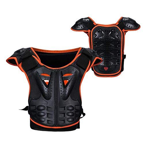 Kindermotorrad Körperschutz Brust Rücken Rückenprotektor Schutzweste, Kinderschutzausrüstung für Motorrad Motocross, Skaten, Snowboarden Motorbike Jackets,M
