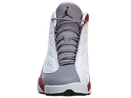 Nike Air Jordan 13 Retro, Chaussures de Sport Homme, Noir white/black-true red-cmnt grey