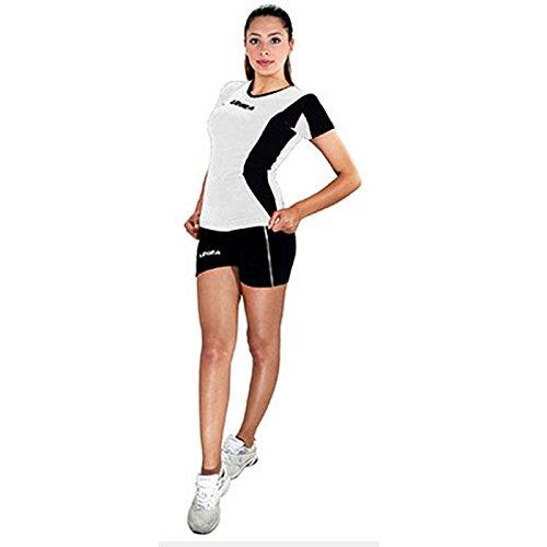 Legea Kit Basilicata Volley Damen Bekleidung trikot short volleyball (S, WEISS-SCHWARZ)