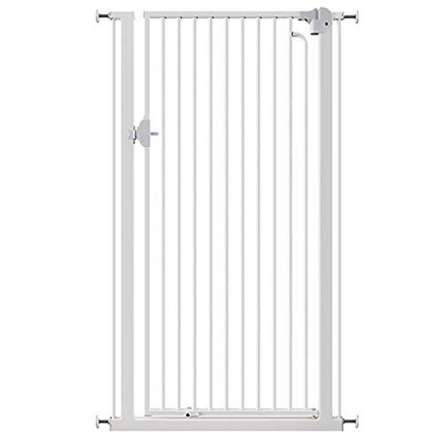 PNFP Schmale Pet Cat Gate, Druck montiert verschlüsselte Schutzgitter for Treppen Flur Tür, Weiß Easy Open 66-90cm breit (Size : Width 69-74cm) -