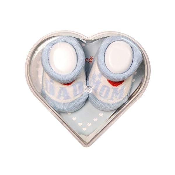 De regalo de calcetines para bebé Regalo único para baby shower o recién nacido para niños y niñas 1 par 0-3 meses 4