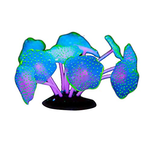 Leuchtende künstliche Aquarium Coral Silikon Pflanze Wasser Landschaft Dekoration Aquarium Ornament Mengonee