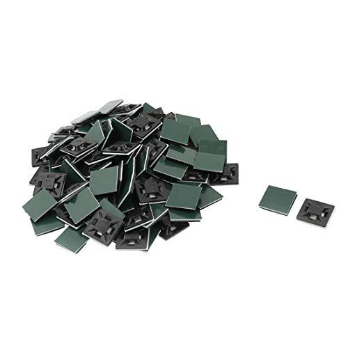 Accueil plastique carrée auto-adhésif Lanières soutien bases supports 21 x 21mm 100pcs