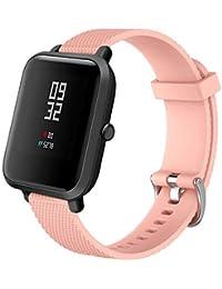 Correa de Reloj Reemplazo, YpingLonk Textura Silicona Suave para Xiaomi Amazfit Bip Youth Watch Pequeño