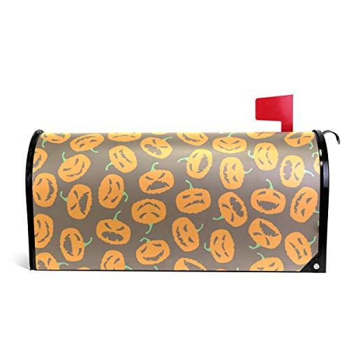 senya Briefkastenabdeckung, magnetisch, groß, Halloween-Muster, Kürbis 25.5x20.8 inch Multi