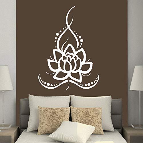 Hnxdp wandtattoos yoga lotus indischen buddha aufkleber vinyl aufkleber wohnkultur schlafzimmer innenarchitektur kunstwand wasserdichte dekoration rot 42x58 cm -