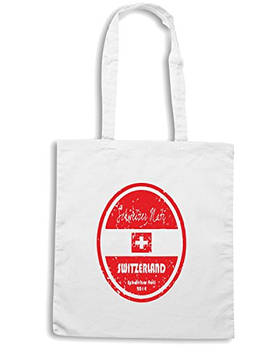 T-Shirtshock - Borsa Shopping WC0669 World Cup Football - Switzerland Bianco