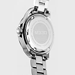 MEDOTA Saison Women's Studded Automatic Water Resistant Analog Quartz Watch - No. 8001 (Smile Flower)