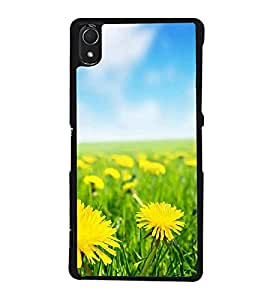 Fuson Designer Back Case Cover for Sony Xperia Z3 :: Sony Xperia Z3 Dual D6603 :: Sony Xperia Z3 D6633 (Yellow Flowers Nice Flowers Small Yellow Flowers Beautiful Yellow Flowers Flower Garden Nice Yellow Flowers)