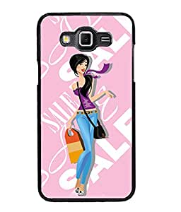 Fuson Sales Girl Back Case Cover for SAMSUNG GALAXY GRAND 3 - D4089