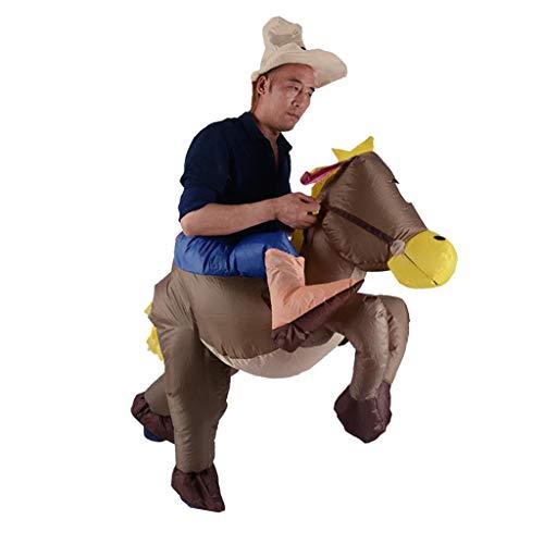 fblasbares Esel Reiter Kostüm Fatsuit Fett Anzug Karneval Halloween und Cosplay Zubehör ()