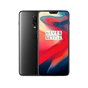 OnePlus 6 Smartphone Débloqué 4G (Ecran : 6,28 Pouces - 8 Go RAM - 256 Go Stockage - Double SIM - Android) Mirror Black [écouteurs OnePlus Bullets V2 Inclus]