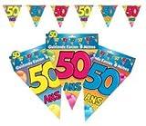Guirlande Fanions 50 Ans - Taille Unique