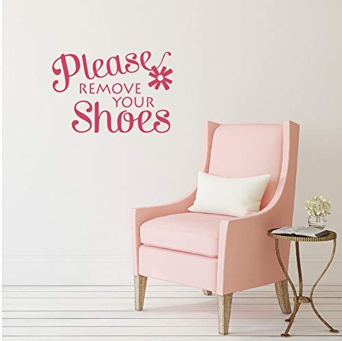 Lvabc 62X42Cm Familie Wandaufkleber Bitte Entfernen Sie Ihre Schuhe Zitat Wandtattoos Home Design Wand Dekoration Startseite Eingabe Zeichen Wandbild (Zitate Schuhe Halloween)