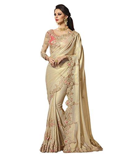 Kanchnar Women's Shimmer Saree (532S4211,Golden)