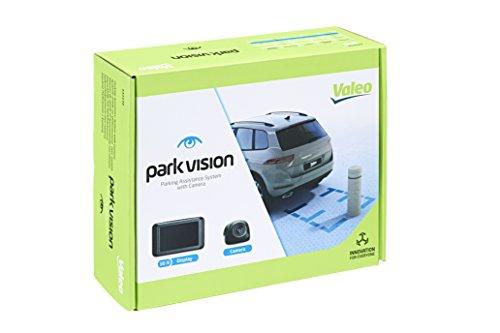 Valeo parkvision Einparkhilfe mit Kamera und TFT-Display zum Heckeinbau, Artikelnr. 632210, Schwarz
