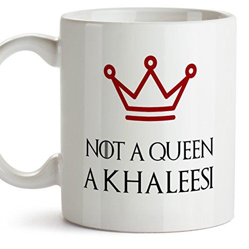 Game of Thrones Mug – (auf Englisch) Haus Targaryen – Ich Bin Keine Königin, Ich Bin Ein Khaleesi – Original und lustiges Geschenk für Daernerys Fans – Kaffeebecher Zum Frühstück – 350 ml Keramik