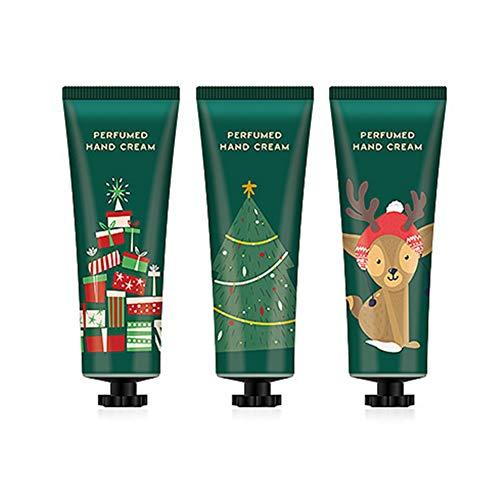 Crème pour les mains Onkessy 3 Pcs Crème Hydratante pour la peau Hydratante Nurish peau Absorbant rapidement pour la peau de la main Noël Crème pour les mains Set Soins des mains