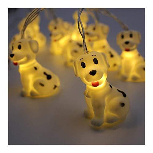 WDWL Schlafzimmer Ferien Partei Weihnachten Lichterketten Kupfer Niedlichen Tiere Innen-LED Tier Licht Batteriebetriebene Lichterketten Dekorative Urlaub Lichter (Color : Dog) -